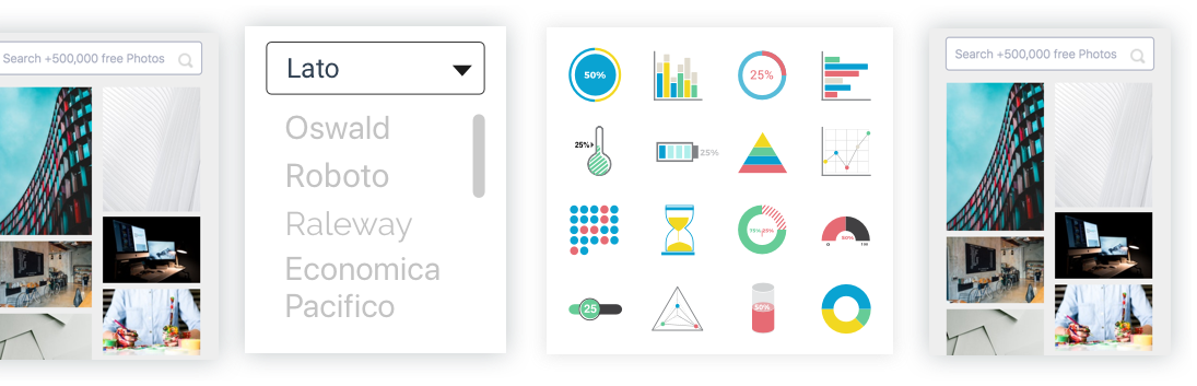 Graphics, charts & data widgets
