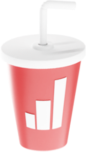 A 3D illustration of a soda.