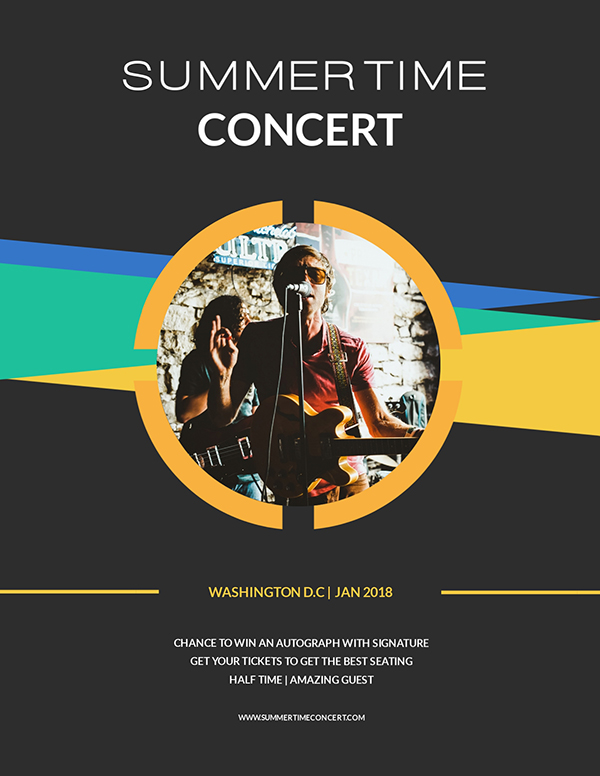concert event flyer maker visme - Free Flyer Design Templates