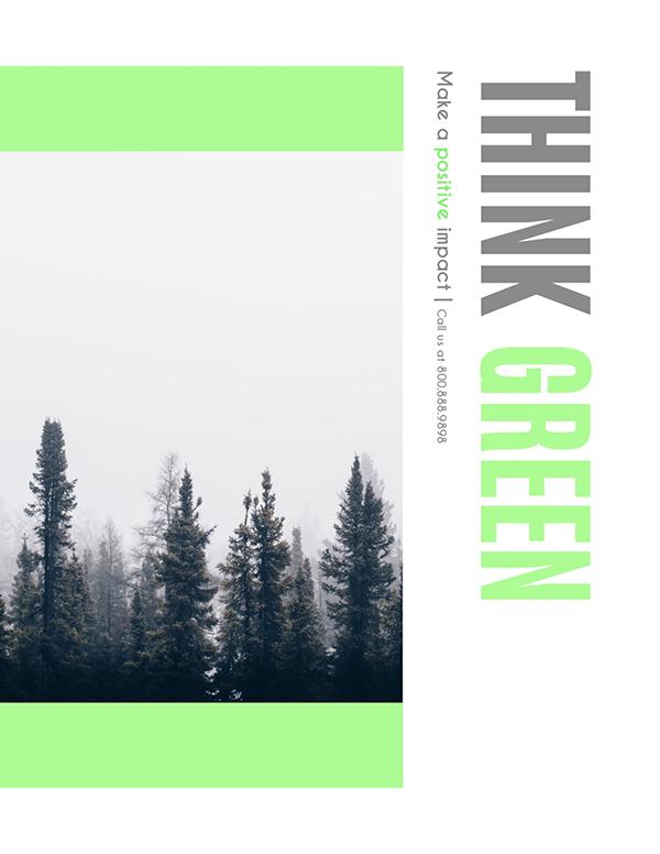 think green flyer maker visme