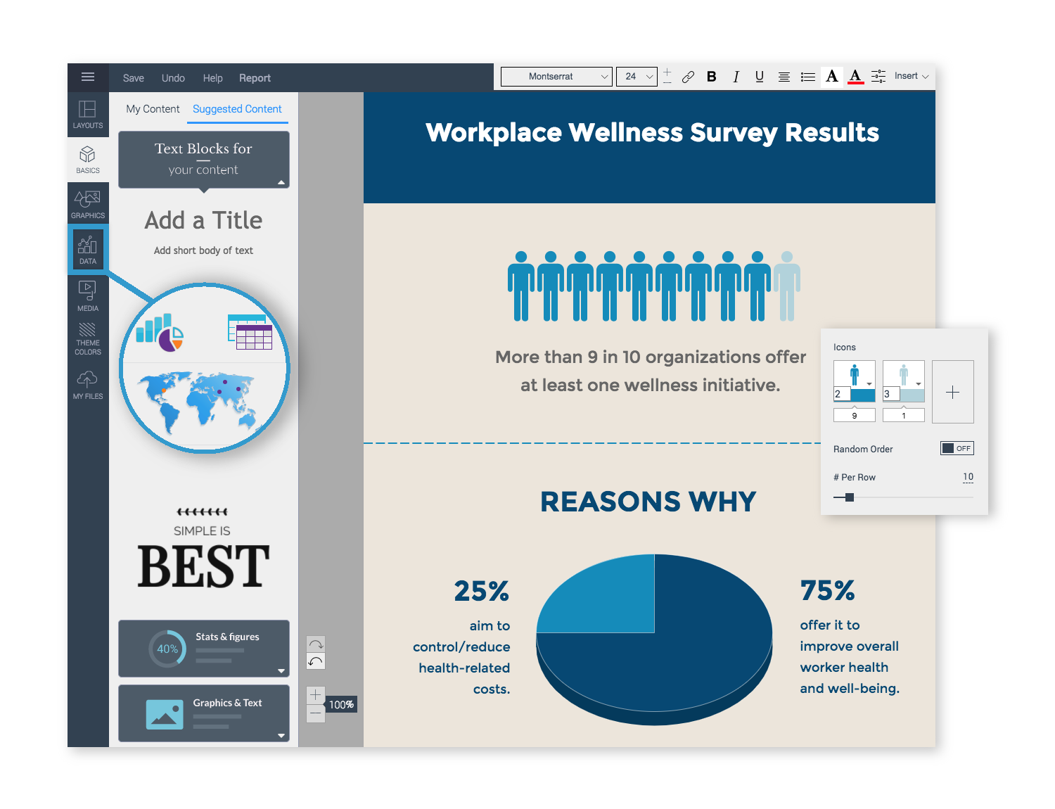 Survey results report-Customize-Your-Templates in visme
