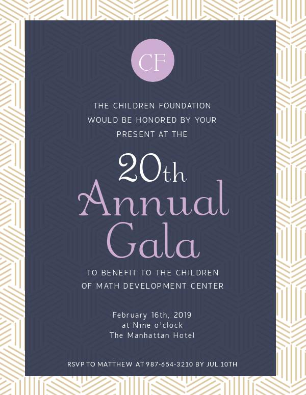 invitation template annual gala