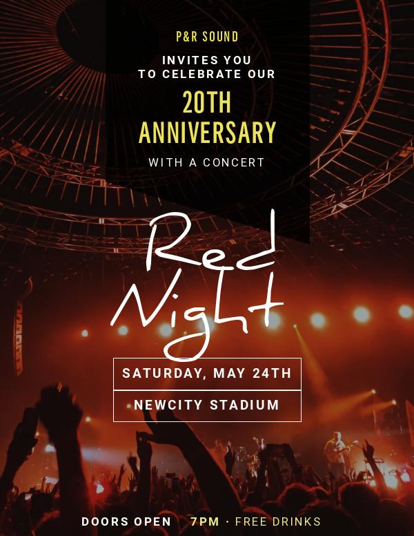 invitation template concert anniversary
