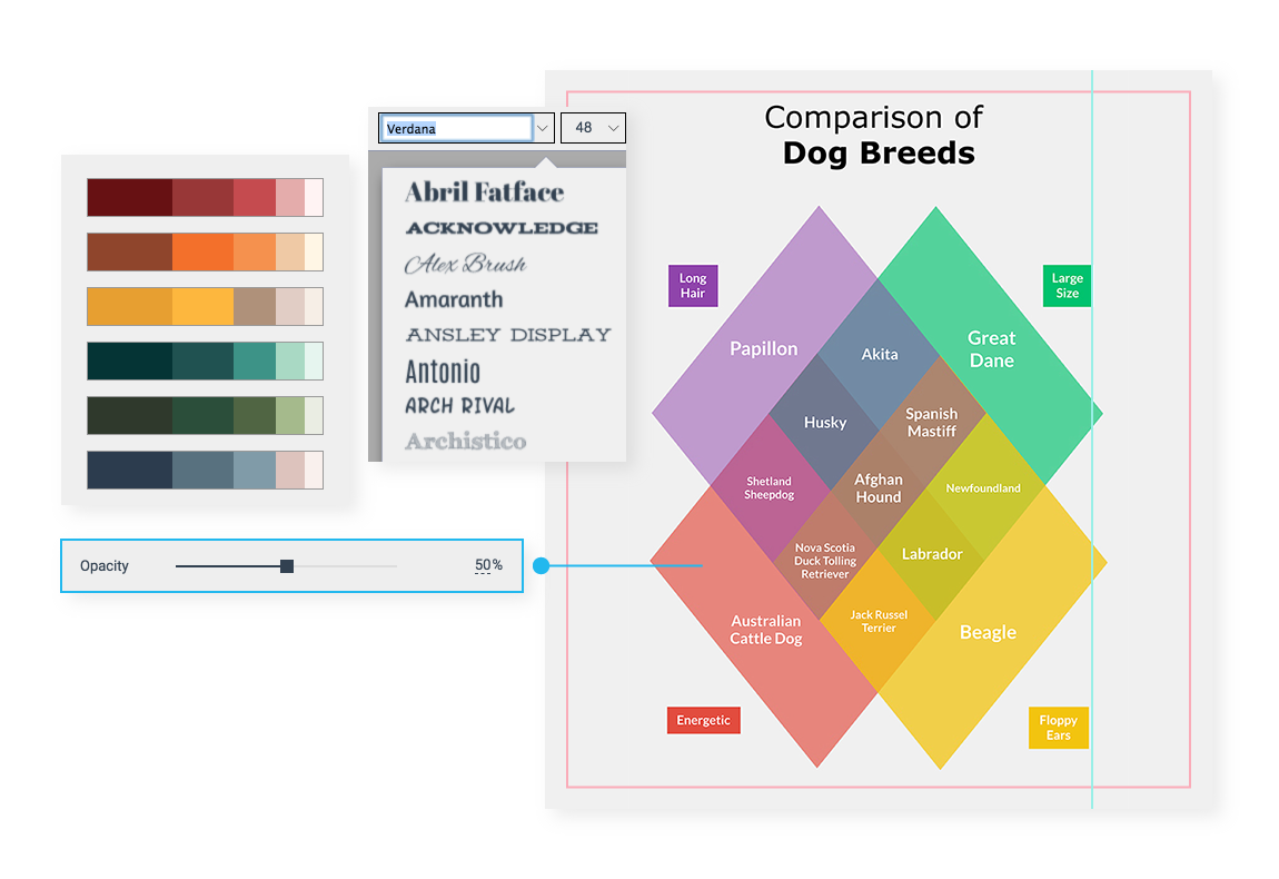 fully customize your venn diagram