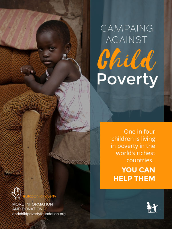 child poverty nonprofit poster template visme