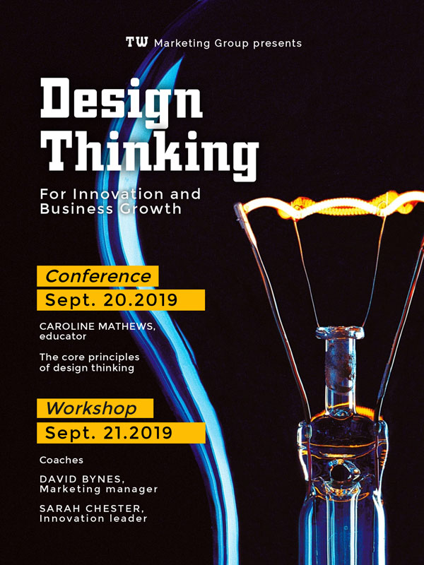 conference workshop poster template visme