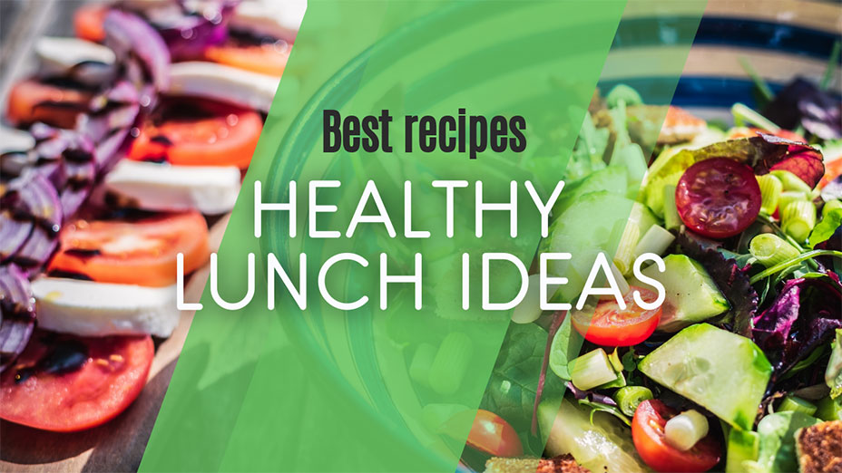 Youtube thumbnail template healthy lunch ideas