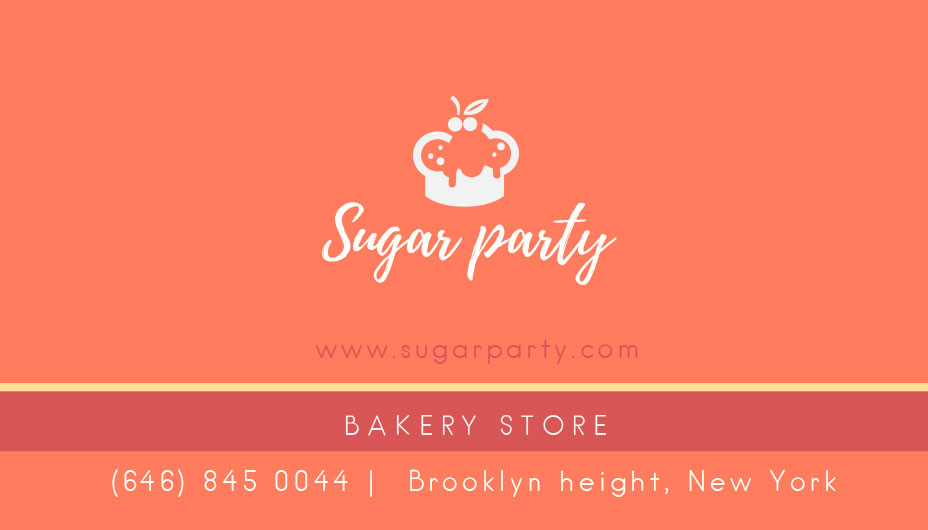 bakery store business card template