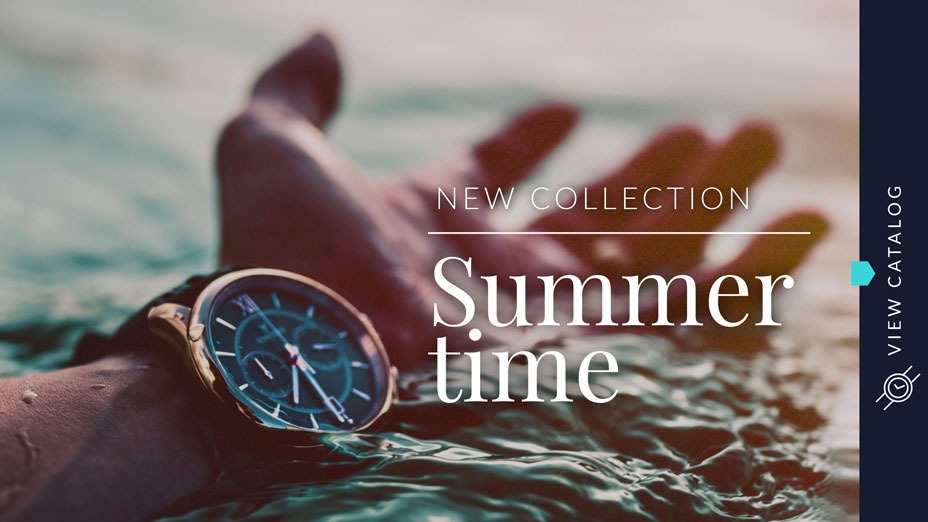fashion summer collection banner template visme