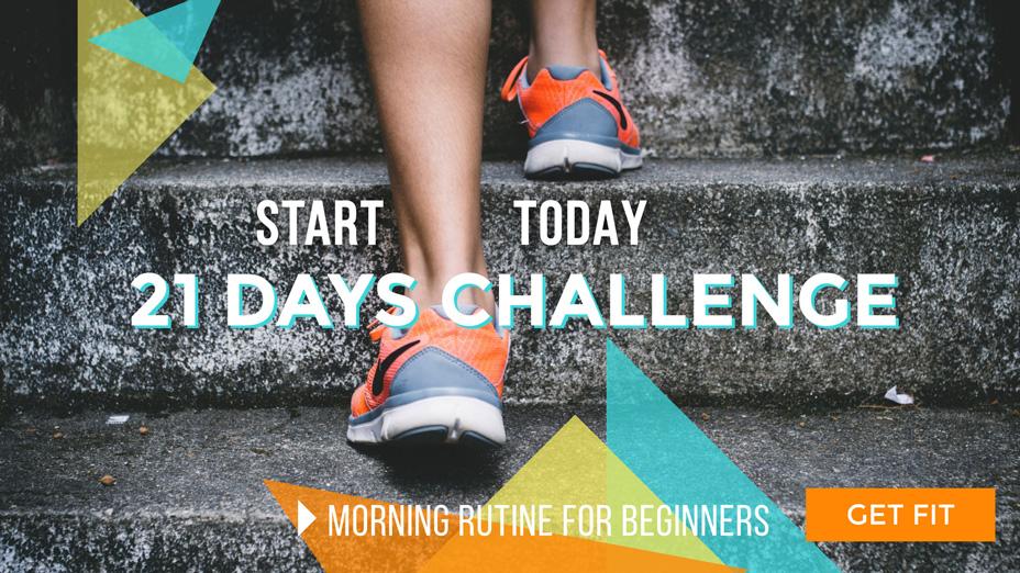 fitness challenge banner template visme