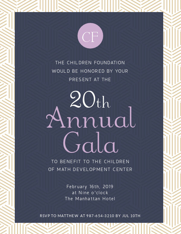 invitation template annual gala