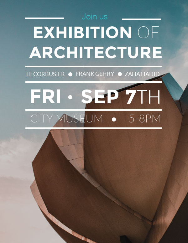 invitation template exhibition architecture