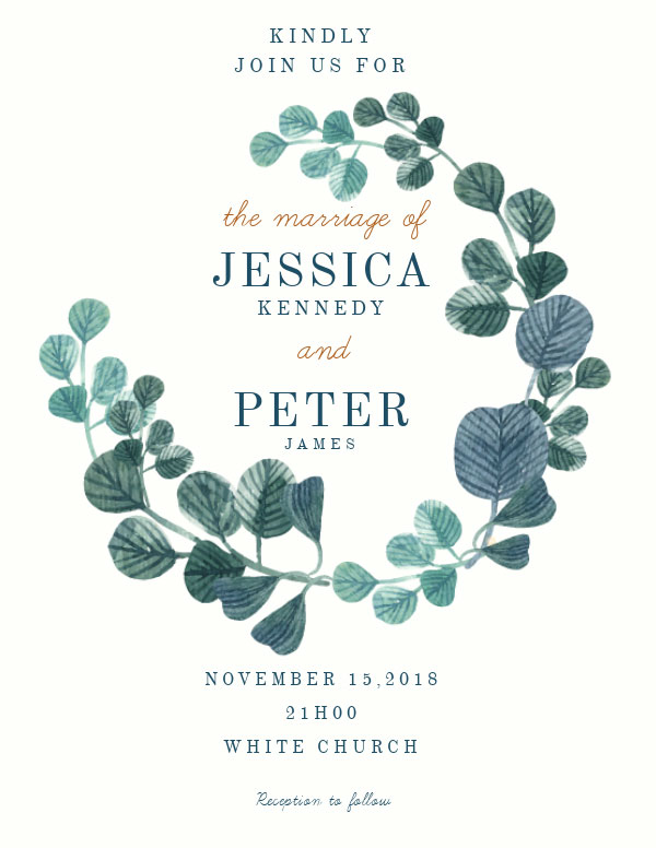 invitation template for wedding