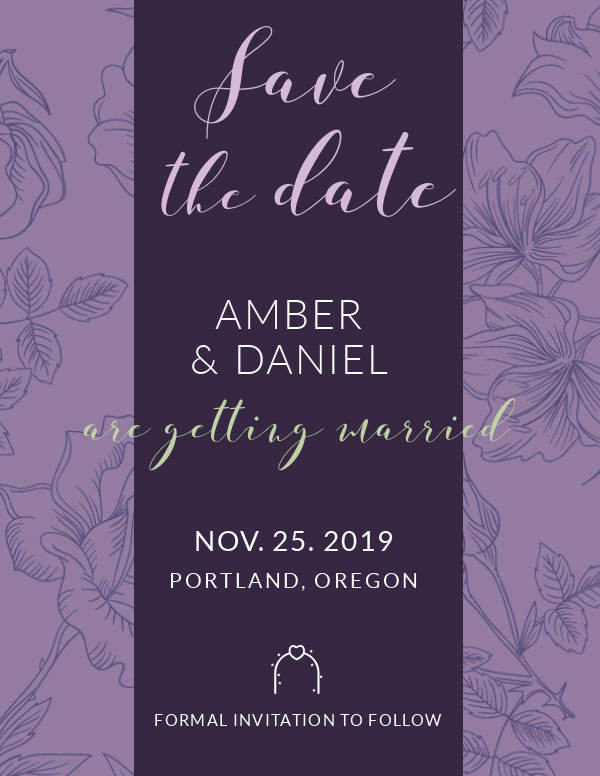 invitation template save the date