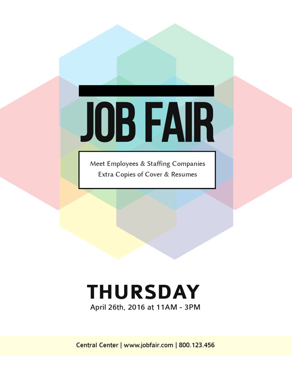 job fair event flyer maker visme