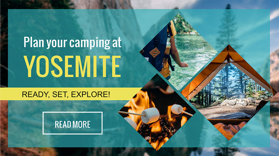 travel camping banner template visme