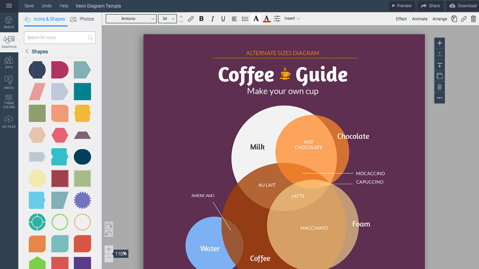 Venn Diagram Maker.Free Venn Diagram Maker Venn Diagram Generator Visme