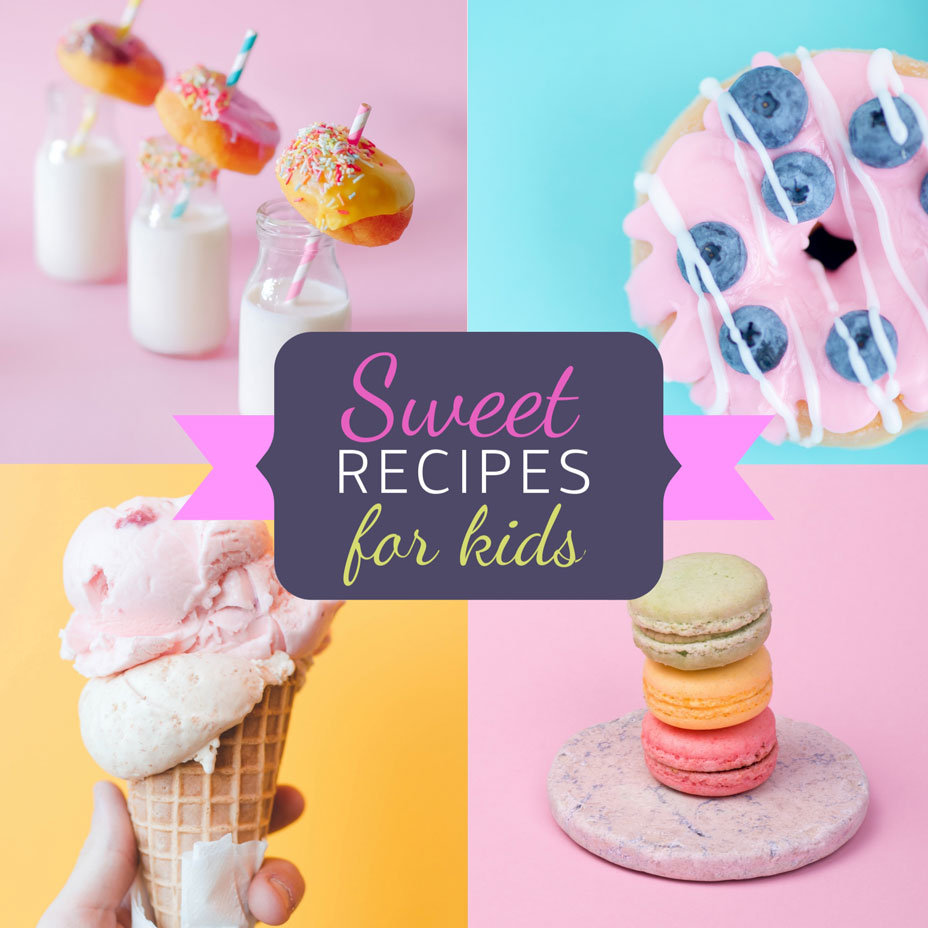 dessert recipes collage template