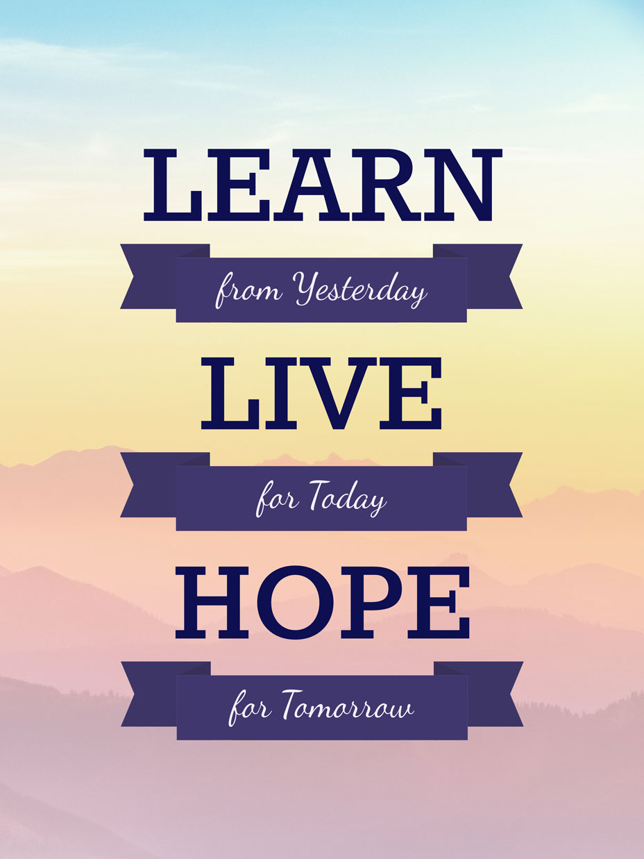 learn live hope quote poster template