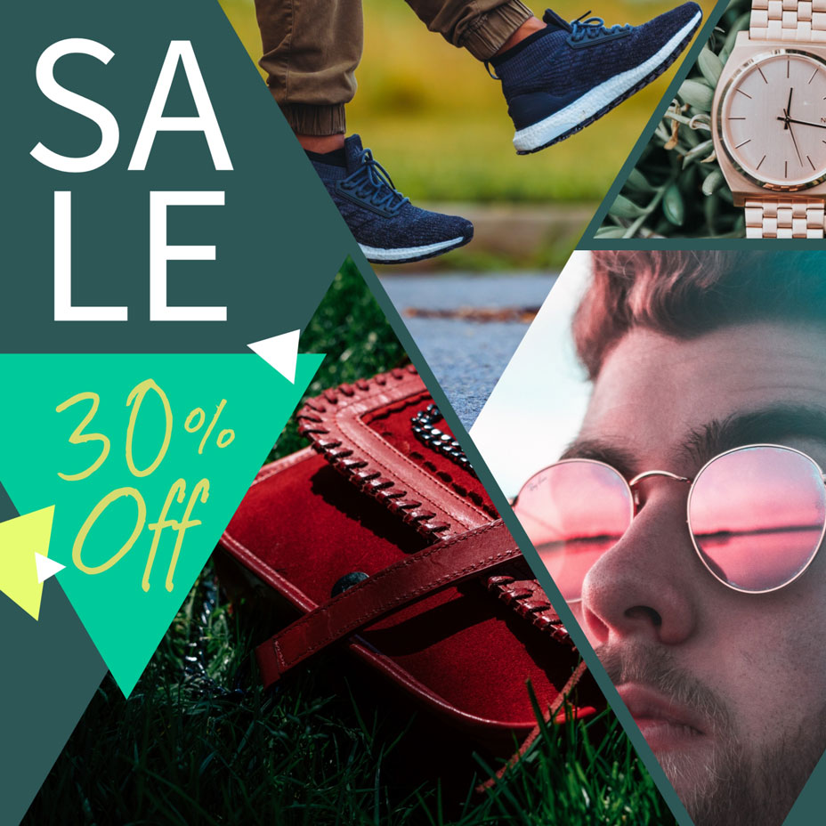 sale collage template