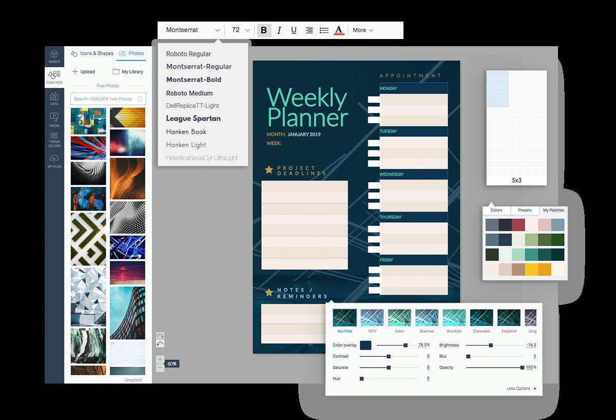 schedule maker schedule builder customization options