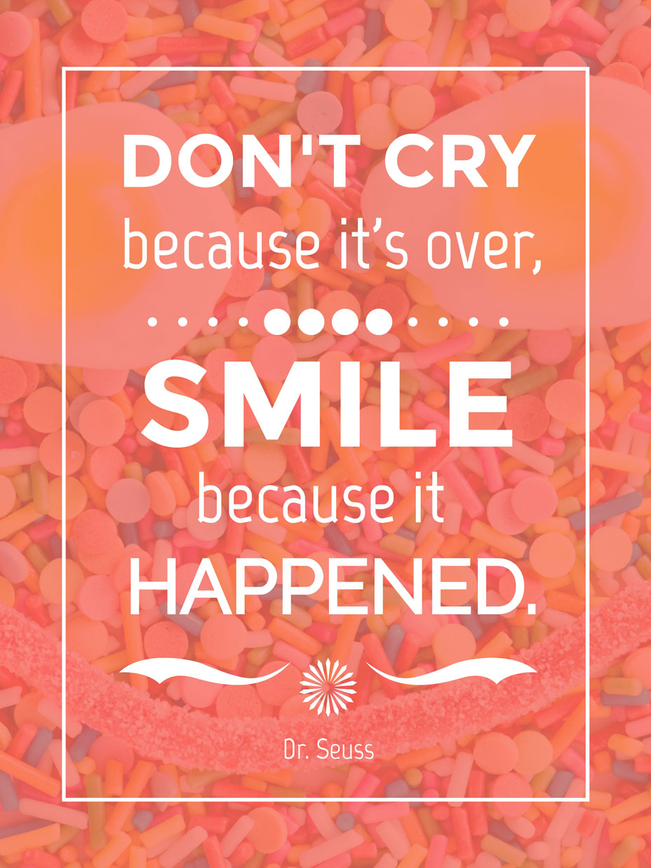 smile quote poster template