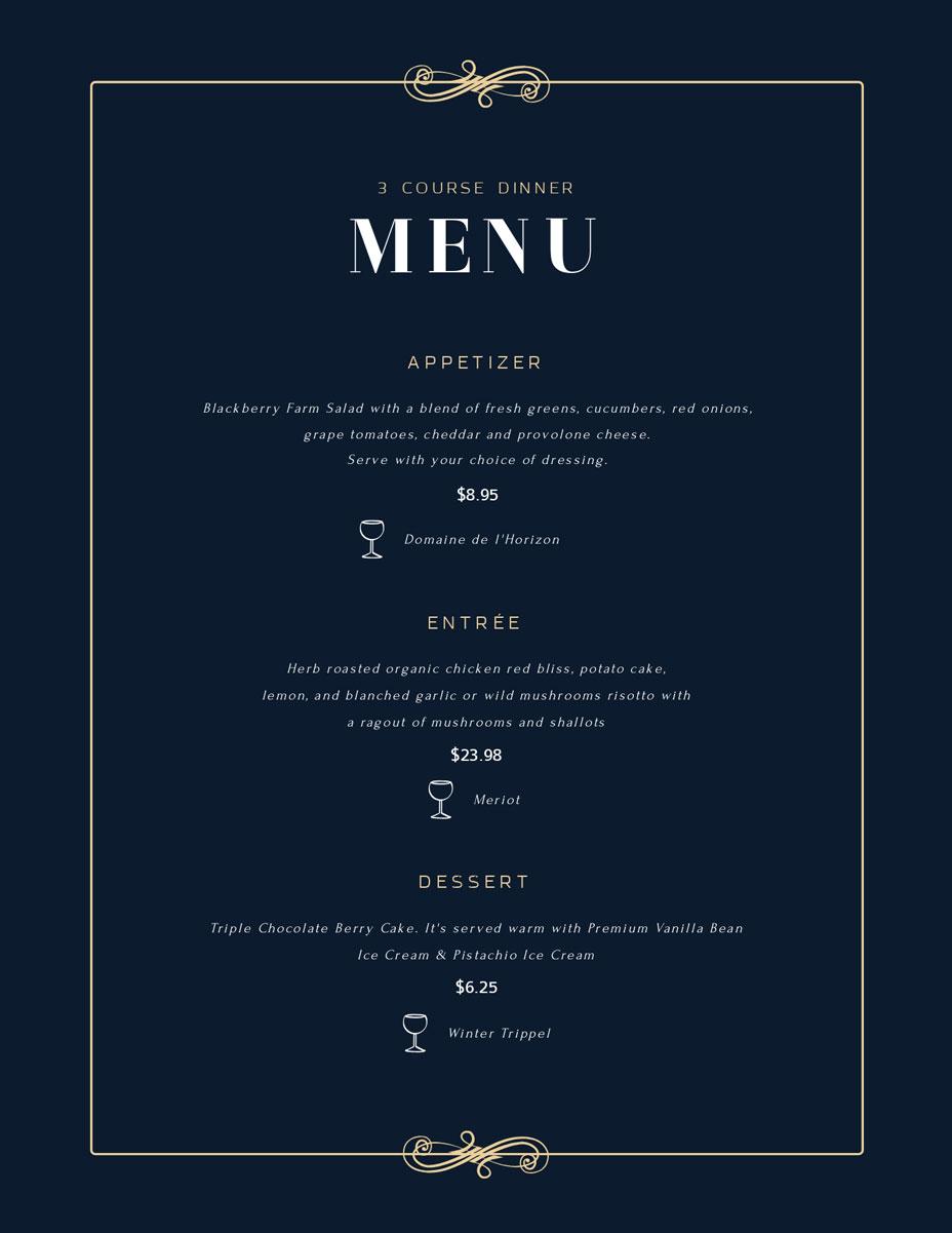 free menu maker