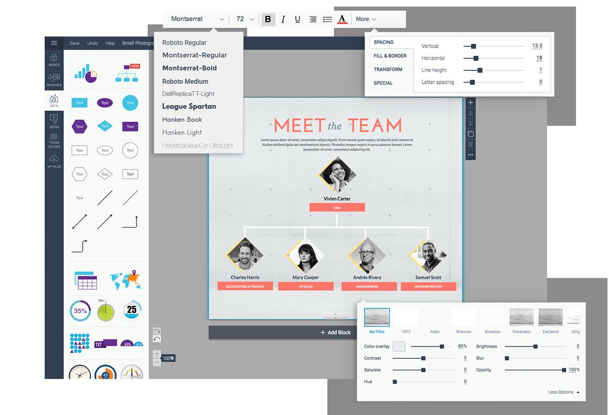 organizational chart maker org chart software customization options visme