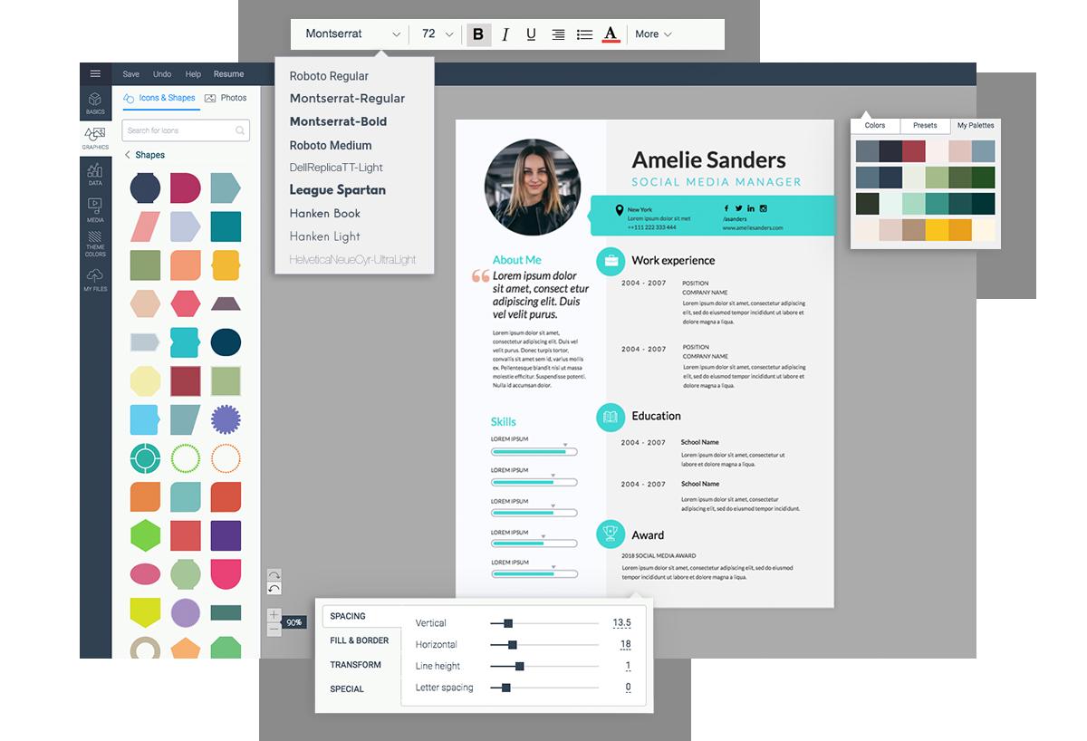 Free Resume Maker | Resume Builder | Visme