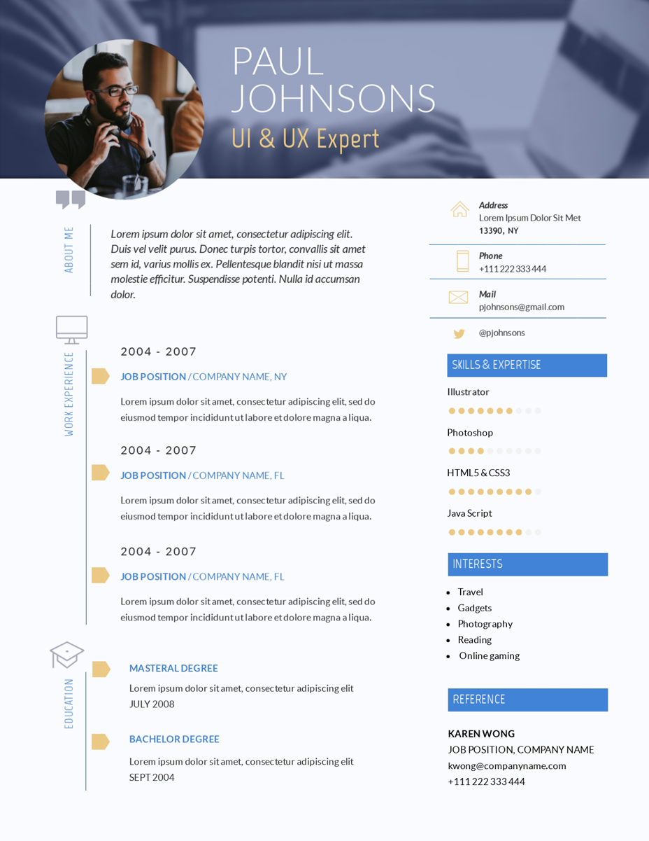 Free Resume Maker | Resume Builder | Visme