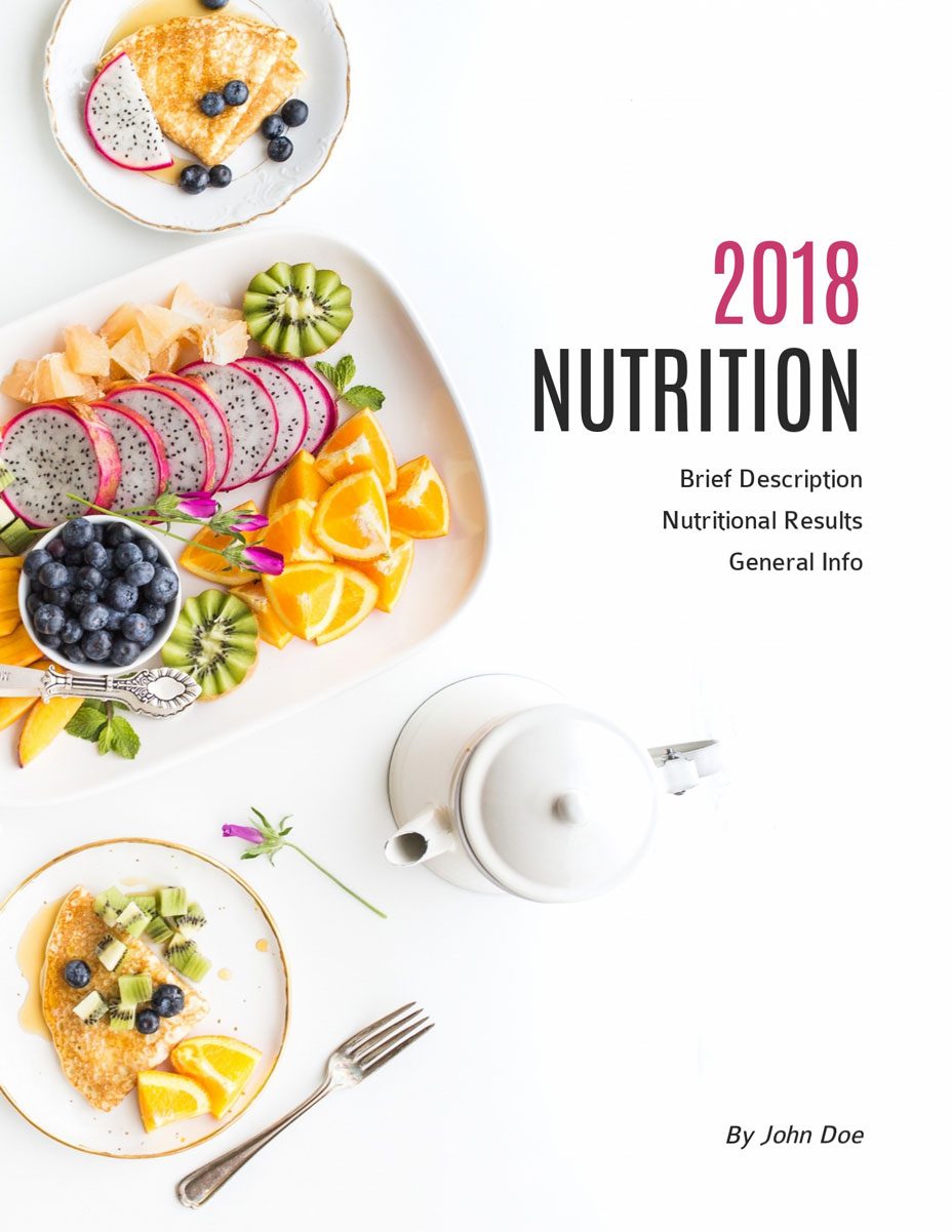 white background nutrition ebook template visme