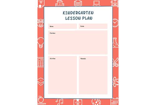 Lesson Plans Templates