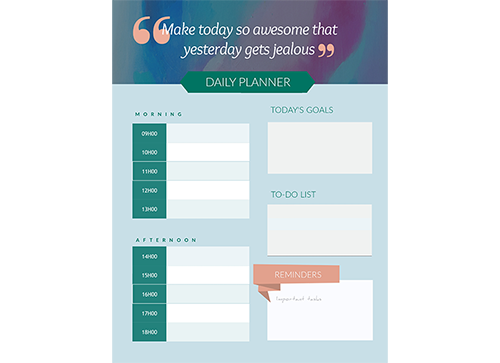 Schedules Templates