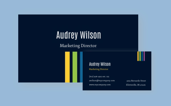 Free Business Card Maker Create A