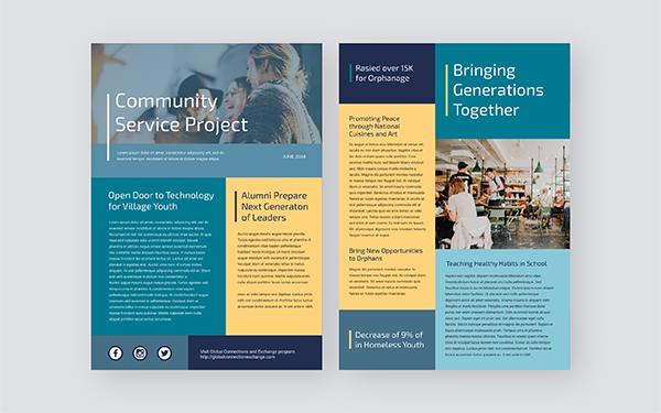 Community Newsletter Template from www.visme.co