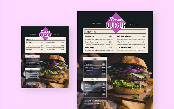Free Menu Maker Create Your Own Menus Visme