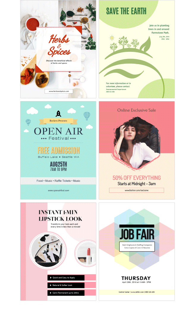 Free Online Flyer Maker Design Custom
