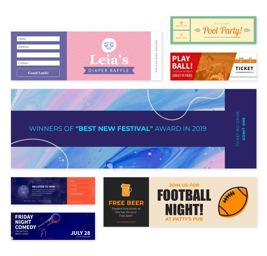 Free Online Ticket Maker Design Event Tickets Visme
