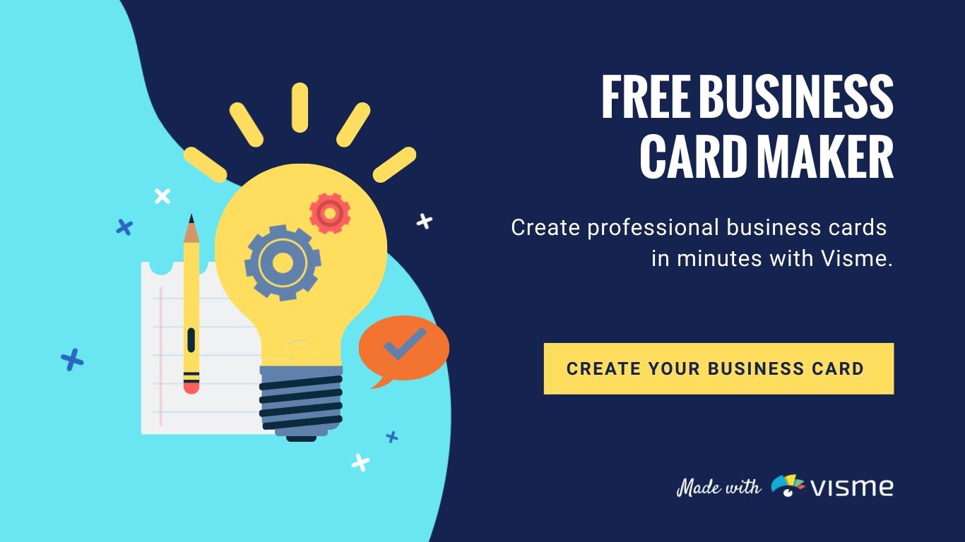 Free Business Card Maker - Create a Business Card  Visme