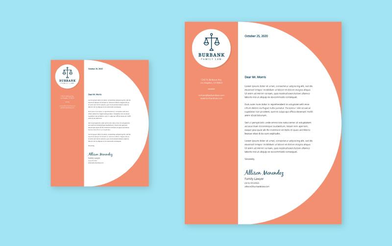Free Branded Letterheads Design Your Letterhead Visme,Fashion Designer Business Card Ideas