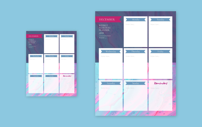 Free Online Schedule Template from www.visme.co