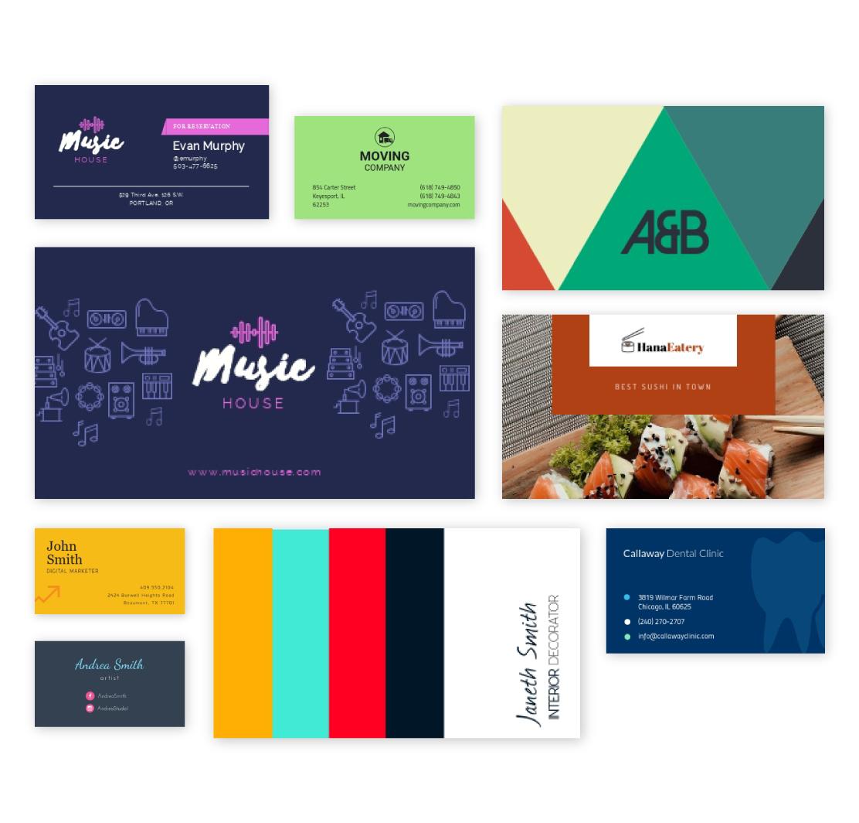 Free Business Card Maker Create A Business Card Visme