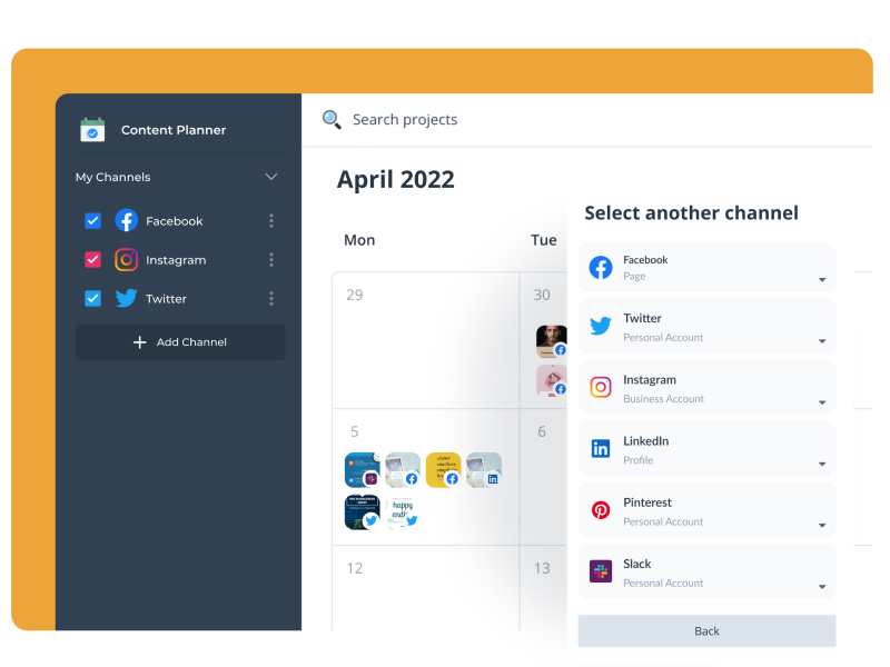 Plan, collaborate and schedule content for a variety of platforms