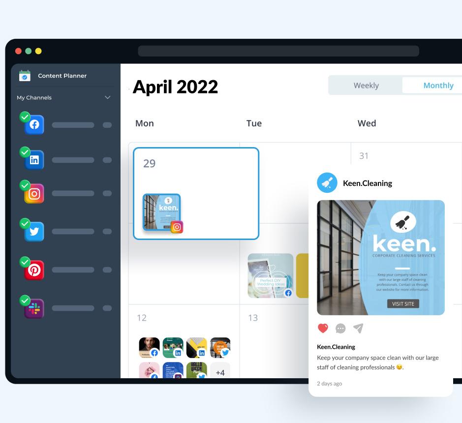 Plan & schedule content with Visme's Social Media Scheduler